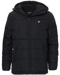 Wadded Hooded Jacket Jet Black