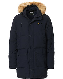 Heavy Weight Long Puffer Parka Dark Navy