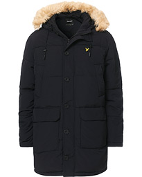 Heavy Weight Long Puffer Parka Jet Black