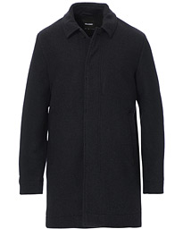 Wool Mac Coat Charcoal Marl