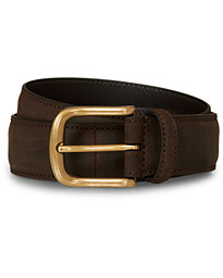 3,5 cm Belt Dk Brown Rough-Out Suede