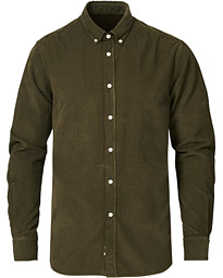 Douglas Corduroy Button Down Shirt Olive
