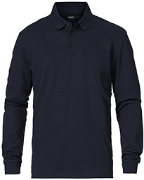 Pado Knitted Polo Shirt Dark Blue
