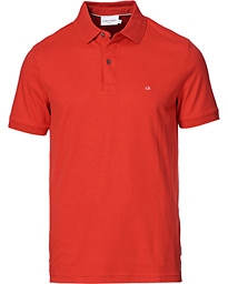 Slim Fit Liquid Touch Polo Racing Red Heather
