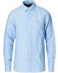 Pigment Dyed Linen Shirt Calm Blue