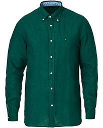 Pigment Dyed Linen Shirt Rural Green