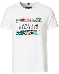 Hawaiian Flag Crew Neck Tee White