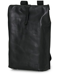 Pickwick Large Leather Backpack Black