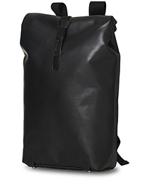 Pickwick Reflective Leather Backpack Black