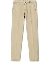Regular Fit Garment Dyed Slacks Beige