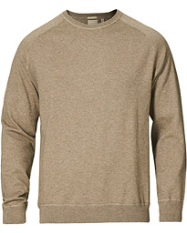Sport Cotton/Cashmere Raglan Pullover Taupe