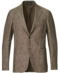 Linen Unlined Blazer Brown