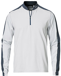 Ry Mid Layer Active Mesh Half Zip Stone Grey Melange
