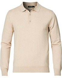 Rowan Cotton/Silk Long Sleeve Polo Sand Grey