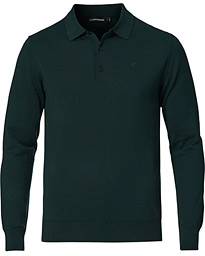 Rowan Cotton/Silk Long Sleeve Polo Hunter Green