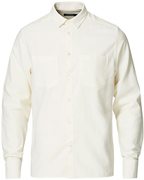 Regular Fit Refined Crepe Shirt Cloud White