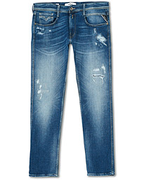 Anbass Power Stretch Five Year Wash Jeans Light Blue