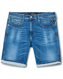 Anbass Hyperflex Denim Shorts Medium Blue