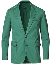 Cotton Stretch Sportcoat Washed Forest