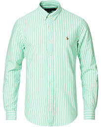 Slim Fit Oxford Striped Shirt Green/White