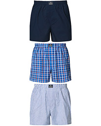 3-Pack Woven Boxer Blue