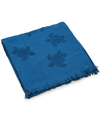 Turtle Jacquard Beach Towel Blue
