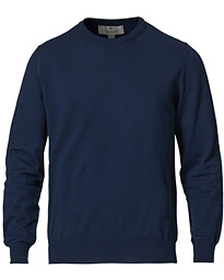 Cotton Crew Neck Navy