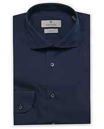 Slim Fit Stretch Shirt Navy