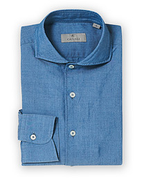Slim Fit Indigo Dress Shirt Blue