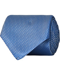 Jacquard Silk Tie  Light Blue 8 cm