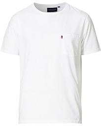 Travis Pocket Crew Neck Tee White