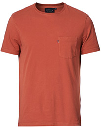 Travis Pocket Crew Neck Tee Red