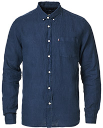 Ryan Linen Shirt Dark Blue