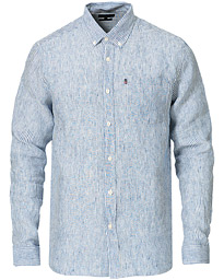 Ryan Linen Shirt Blue/White