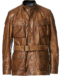 Trialmaster Panther 2.0 Leather Jacket Burnished Gold