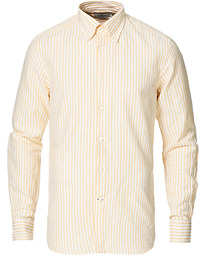 Color Stripe Button Down Cotton Shirt Yellow