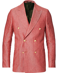 Colour Club Double Breasted Blazer Pink