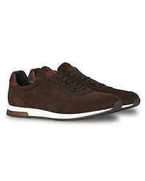 Bannister Running Sneaker Dark Brown Suede