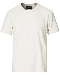 Fons Cotton Blend Terry Pocket Tee White Sand