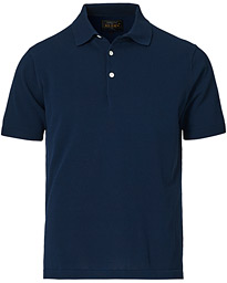 Short Sleeve Knitted Polo Navy