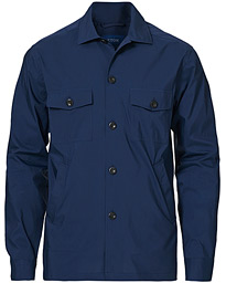 Cotton/Nylon Overshirt Navy