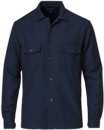 Cotton Dobby Overshirt Navy