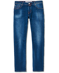 622 Slim Fit Contrast Stiching Jeans Mid Blue