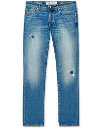 622 Slim Fit Light Distressed Jeans Light Blue