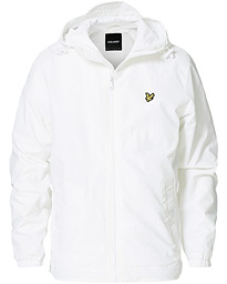 Zip Through Hooded Jacket White