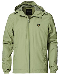 Zip Through Hooded Jacket Moss