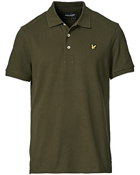 Plain Pique Polo Shirt Treck Green