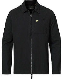 Twill Zip Overshirt Jet Black