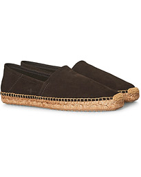 Flex Sole Espadrillas Dark Brown Suede
