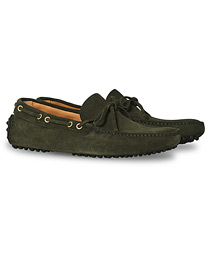 Driver Moccasin Dark Green Suede